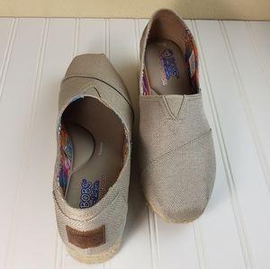 Skechers Bobs Memory Foam Wedges Womens Shoes 10W